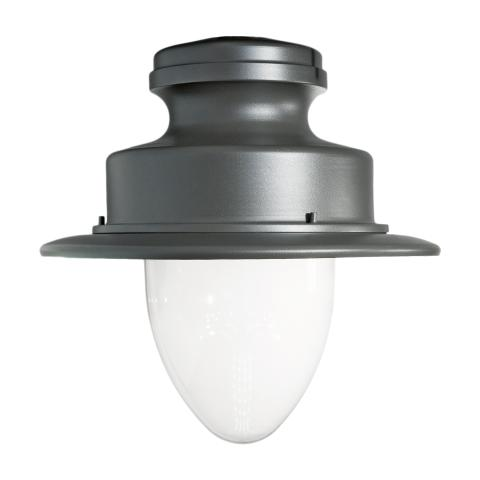 The classical design of the Albany LED street lighting solution is suitable for towns and cities.